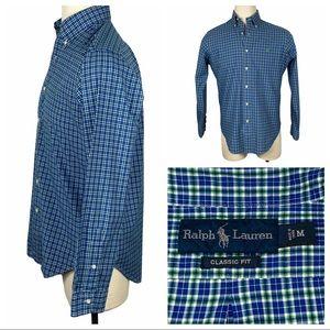 Ralph Lauren Classic Fit Blue & Green Dress Shirt